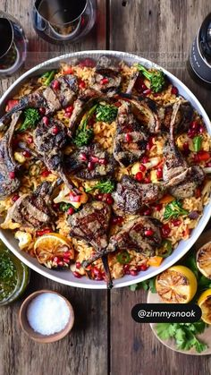 Lamb Recipes, Veggie Recipes, Seasoned Rice Recipes, Riced Veggies, Flavored Rice, Healthy Grilling Recipes, Lamb Chops, Chimichurri, Grilled Vegetables