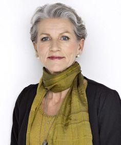 Scarf, eyes, hair: great colour combination. Danish model Nina.