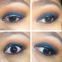 Contrasting colour eyeshadow.    #blue #orange #contrasting #eyeshadow #eye #shadow #color #colour #eyemakeup #makeup #makeup #nomascara #nofoundation #no #mascara #foundation #glitter #litcosmetics #eyeliner #blueeyeliner #igsg #sgig #ig #singaporeig #igsingapore #random #mua #lol #makeupartistic #artistic