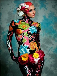 8 best body art images in 2015 Body Painting Pictures, Body Art Photography, Belly Painting, Body Makeup, Art Paintings, Painting Art, Painting Tattoo, Woman Painting, Face Art