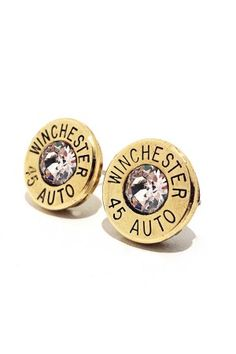 Bullet Stud Earrings Winchester 40 Caliber Sterling Silver Custom Cal In 2018 Style