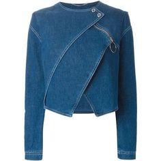 Denim jackets: Shop Kenzo tiered denim jacket in Stefania Mode fr. Denim Fashion, Fashion Outfits, Womens Fashion, Denim Outfits, Jackets Fashion, Cheap Fashion, Skirt Outfits, Modest Fashion, Fall Fashion