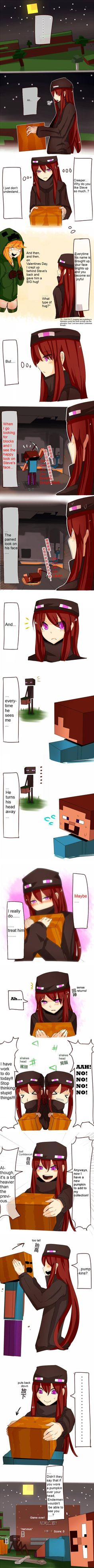 absurdres ander andr blonde hair blush brown hair comic creeparka creeper cupa death enderman gameplay mechanics genderswap highres incredibly absurdres long hair long image minecraft multiple girls night personification pickaxe p Minecraft Logic, Minecraft Fan Art, Minecraft Skins, Real Minecraft, Warframe Art, Fanart, Stuff And Thangs, Anime Eyes, Fun Comics