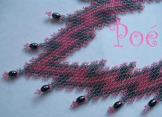 Poé gyöngyei - Éva Pálné - Picasa Web Albümleri Peyote Stitch, Bead Weaving, Seed Beads, Beaded Necklaces, Patterns, Ideas, Beads, Block Prints, Pearl Jewelry