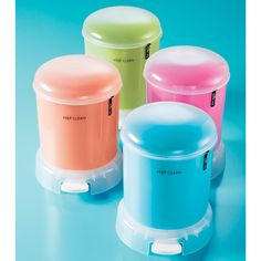 The Container Store > Retro Bubble Step Can -- Inspired by the Adorable. Bathroom Organisation, Organization, Elfa Shelving, Bathroom Storage, Bathroom Ideas, Custom Closets, Trash Bins, Container Store, Recycling Bins