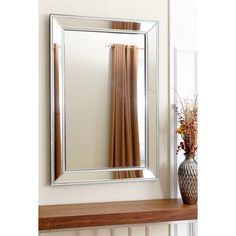 This Abbyson Living mirror will be a stylish addition to your home. Practice speeches, cut your own hair, or just make sure you don't have broccoli in your teeth with this mirror.