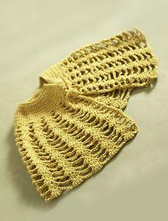 Crochet Capelet free pattern #60728AD by Lion Brand Yarn