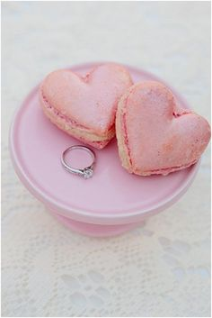pretty & tasty heart macarons by Agnes De Sucre | photo by Eddie Judd