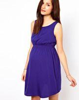 new look maternity waist detail dress