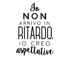 "Wallsticker ""Aspettative"" nero 40 x 60 cm Italian Quotes, More Than Words, Cool Words, Sentences, Quotations, Funny Quotes, Wisdom, Positivity, Mood"