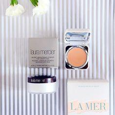 Jedna z najlepszych na świecie wysokopółkowych opcji na cienie pod oczami- korektor @lamer  który jest genialny i ma wręcz niesamowite krycie, oraz puder pod oczy  @lauramercier Secret Brightening powder- pięknie rozświetla, wygładza i często radzi sobie dobrze na samym kremie pod oczy. To z serii 'kosmetyki warte swojej ceny' ❤️ #undereyecircles #concealer #settingpowder #eye #lamer #lauramercier #bestconcealer #bestpowder