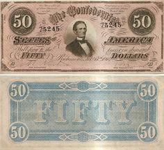 Confederate $50.00 Note - Fine Condition - MintProducts.com
