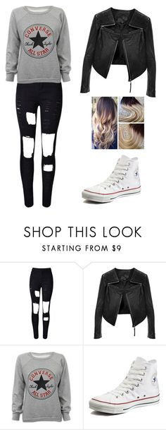 """Love converse"" by angela229 ❤ liked on Polyvore featuring Linea Pelle and Converse"