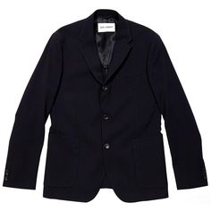 Our Legacy Rolling Three Button Blazer (Bee Crepe Navy) GBP365