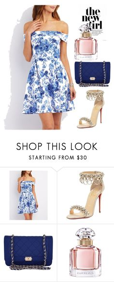 """""""Sundresses"""" by jasmina-ishak ❤ liked on Polyvore featuring Charlotte Russe, Christian Louboutin, Chanel and Guerlain"""