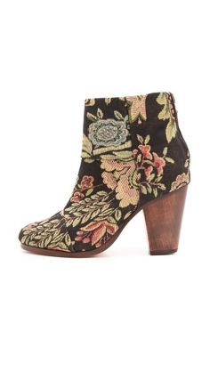 Rag & Bone Classic Newbury Booties.  I love these floral woven pattern for fall.