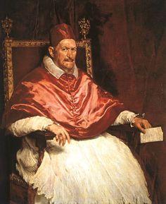 Esta es la mejor pintura de Velázquez, el Papa Inocencio X.- La belleza está en los dif rojos. This is a painting Velazquez did of Pope Innocent X on his second visit to Italy.