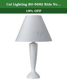 Cal Lighting BO-5692 Kids Novelty Lamp with White Fabric Shades, White Finish. Cal Lighting Has An Exceptional Line Of Quality Products Aimed To Please Even The Most Discerning Of Consumers. Relish In The Design Of This 1 Light Kids Novelty Lamp; From The Details In The White Fabric, To The Double Coated White Finish, This Kids Novelty Lamp Is Not Only Durable, But A Tastefully Elegant Showpiece.