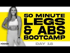 50 Minute Legs and Abs Bootcamp Workout | POWER Program - Day 18 - YouTube 6 Week Workout Plan, Leg And Ab Workout, Hamstring Workout, Hiit Workout At Home, Boot Camp Workout, Fat Burning Workout, Workout Challenge, Workout Videos, Hiit Abs