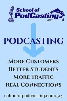 Learn how podcasting can boost your business, your school, your web traffic
