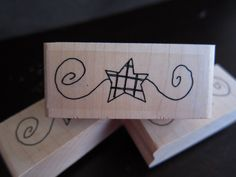Star and Scroll Rubber Stamp, Primitive Stamp, Wood Mounted, Christmas Stamp, Fourth of July Patriotic Stamp for Scrapbooking by LongDogLetterpress on Etsy https://www.etsy.com/listing/213630957/star-and-scroll-rubber-stamp-primitive