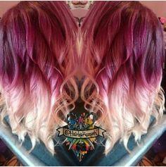 Ombre burgundy hair color – name Black Hair Ombre, Best Ombre Hair, Ombre Hair Color, Cool Hair Color, Hair Colors, Love Hair, Gorgeous Hair, Clavicut, Burgundy Hair