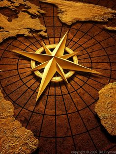 Image of 'Old vintage compass on ancient map' | Next Tattoo ...