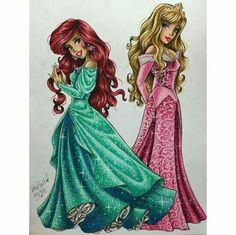 Via maxxstephen on Instagram princess Aurora and princess ariel