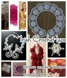 Irish lace crochet from moogly