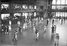 Teens dancing at BobLo Island Amusement Park, opposite Amherstburg, Ontario, and just down the river from Detroit and Windsor (1922)