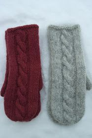 Ravelry: Martine cabled mittens pattern by Berry Cheeks Knitted Mittens Pattern, Knit Mittens, Knitted Gloves, Knitted Bags, Crochet Pattern, Knitting Charts, Free Knitting, Knitting Patterns, Crochet Cable