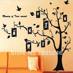 New LARGE Black Photo Picture Frame Tree Vine Branch Removable Wall Decor Decal Wall Sticker LZ007 Free Shipping Dropshipping US $4.11