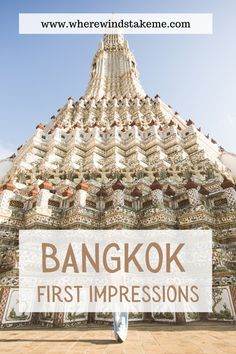 This itinerary starts in Bangkok, heads up north to Chiang Mai, then turns south to the islands of the Andaman Sea and ends in Bangkok, where we return for two more days. Here's how we spent our time in Bangkok when we visited Thailand for the first time #Thailand #Bangkok Bangkok first impressions | What to do in Bangkok