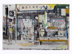 Saatchi Online Artist Fabio Coruzzi; Mixed Media, Downtown by Chinatown #art