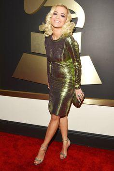 Grammy Awards Fashion 2014 - Grammys Best Dressed Celebrities - Harper's BAZAAR Rita Ora in lanvin