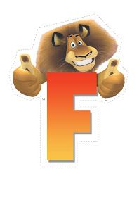 Lion letter F. Madagascar Party, Penguins Of Madagascar, Safari Theme Party, Jungle Party, Safari Crafts, Childrens Alphabet, Circus Birthday, Party Activities, Lion