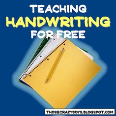 Those Crazy Boys: Teaching Handwriting for Free