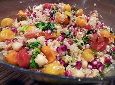 Quinoa Salad with Roasted Tomatoes, Chickpeas And Pomegranate; photo © Christine Bedrossian.