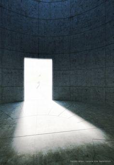 Space for meditation, Tadao Ando