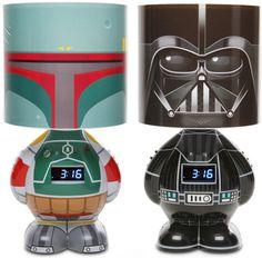 Boba Fett and Darth Vader lamps