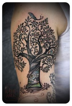 Forearm Tattoo Cover Sleeve | tree on arm by David Hale | tattoo artist – Athens GA, USA