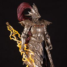 Hi, ORNSTEIN (Dark Souls Series) I sculpted a while back for Sculpted in Zbrush, rendered in keyshot. Ornstein Dark Souls, Sif Dark Souls, Dragon Slayer, Zbrush, Samurai, Artwork, Ornament, 3d, Games