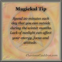 Magickal Tip - Energize for the Winter – Charissa's Cauldron