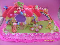 Resultado de imagen para diseños de tortas infantiles para nenas con ceramica fria