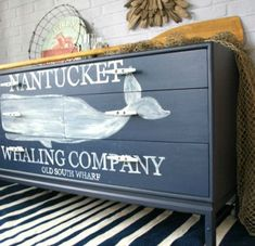 Painted Whale Dresser
