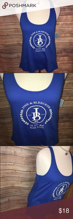 BNWT Jane & Bleecker Royal Blue Tunic Tank BNWT, super cute and comfy oversized racerback tank in awesome royal blue and white shades. Nautical type style. Excellent quality and condition. Purchased at Bloomingdales. Check out my other listings to bundle and save 25% 😎! Jane & Bleecker Tops Tank Tops