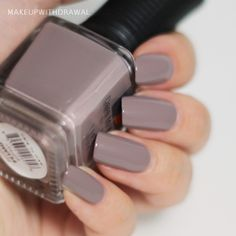 PM Belle La Vie Collection, Utaupia. Two coats. A soft taupe, the color of a bruise on a mushroom.