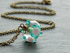 Kette - Lampwork Bubbles  von Perlenfontäne auf DaWanda.com