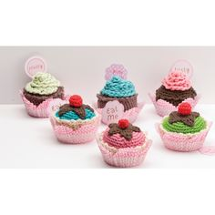 Kit Iniciacion Amigurumi Dmc : Cupcake, Crochet cupcake and Crochet on Pinterest