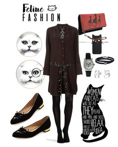 """""""#catstyle"""" by yblacasa ❤ liked on Polyvore featuring Rory Dobner, SPANX, Equipment, Olivia Pratt, Charlotte Olympia, Bling Jewelry, Phillip Gavriel and catstyle"""